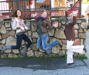 Me with Ashley and Kathy jumping for joy in Gatlinburg, TN